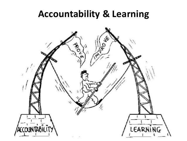 Clarificar si es aprendizaje o rendición de cuentas para