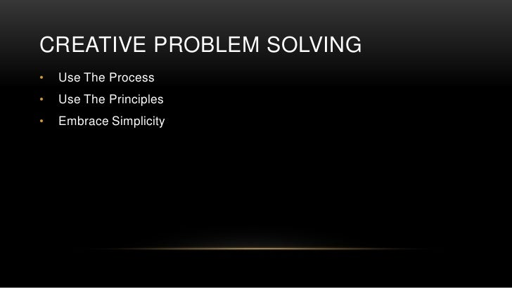 creative problem solving process pdf