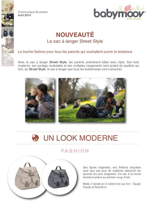 NOUVEAUTÉ Le sac à langer Street Style La touche fashion pour tous les parents qui souhaitent suivre la tendance F.A.S.H.I...