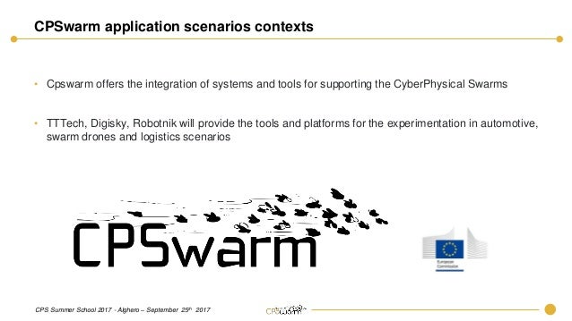 Cyber-physical systems Industrial applications in the CPSwarm Project