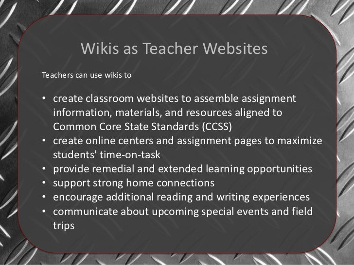CPS Wikis as Classroom Websites Slide 3