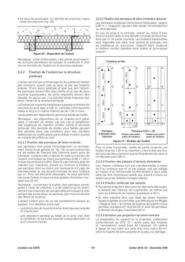Cpt 3316 ossature bois et isolation thermique des bardages rappor u2026 # Isolation Copeaux De Bois