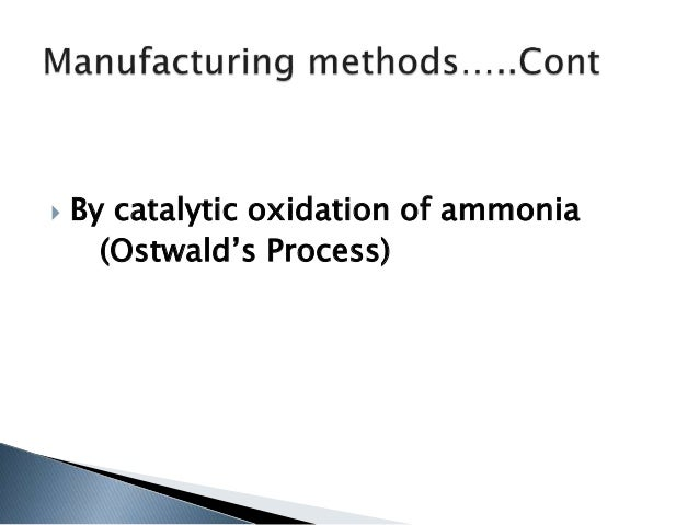 hno3 manufacturing with process flow diagram lactic acid by catalytic oxidation of ammonia (ostwald's process); 3 fuming nitric acid