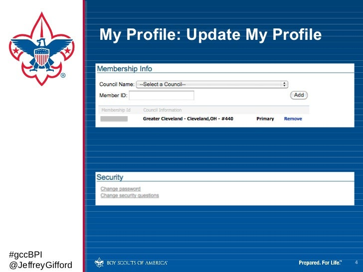 Introduction to myScouting org and BeAScout org