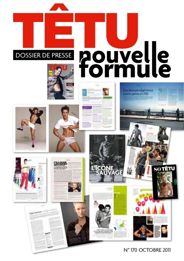 DOSSIER DE PRESSE                    N° 170 OCTOBRE 2011