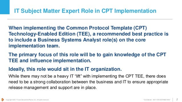 Common Protocol Template Cpt Initiative It Considerations For Cpt