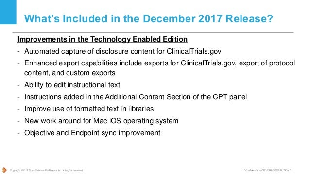 Common Protocol Template (CPT) Initiative - Summary of Changes in CPT…
