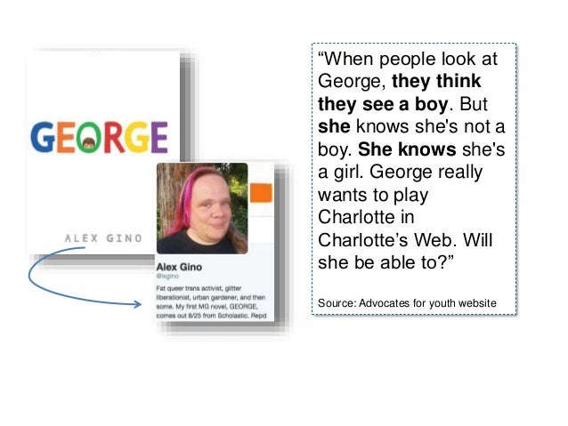 """""""When people look at George, they think they see a boy. But she knows she's not a boy. She knows she's a girl. George real..."""