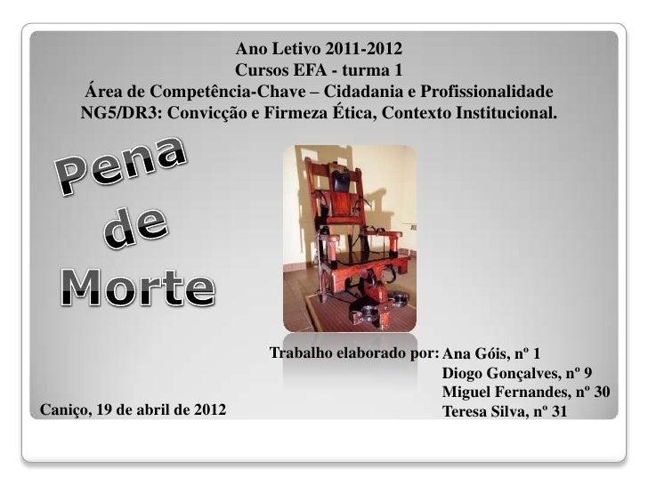 Ano Letivo 2011-2012                      Cursos EFA - turma 1     Área de Competência-Chave – Cidadania e Profissionalida...