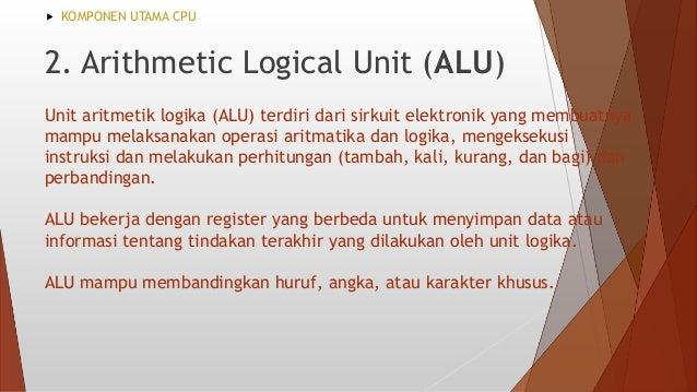 Register merupakan perangkat memori sementara yang menyimpan data. Register membantu CPU dalam melaksanakan instruksi. Mer...