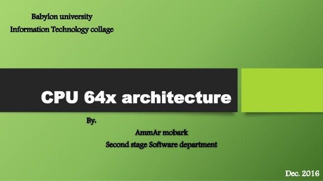 Cpu 64x architecture