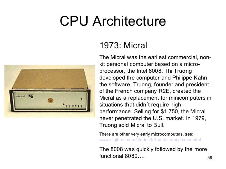 history of cpu A brief history of the cpu architecture leading up to system z  this presentation  will review new cpu facilities that have been added to z/architecture since its.