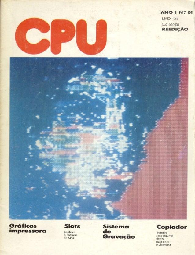 Revista CPU MSX - No. 01 - 1988