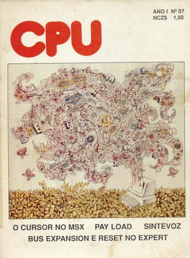 Revista CPU MSX - No. 07 - 1988