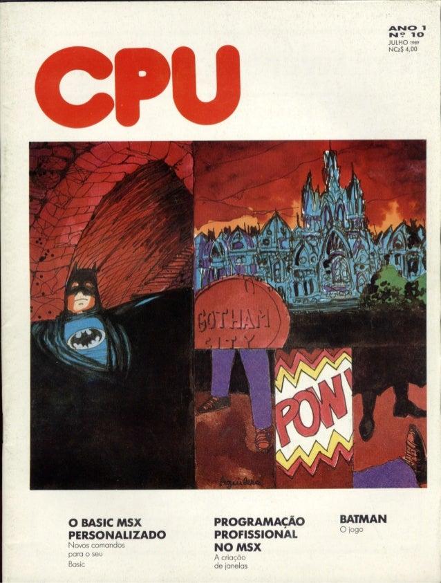 Revista CPU MSX - No. 10 - 1988