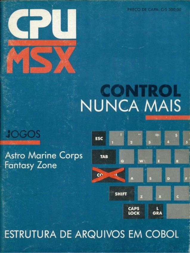Revista CPU MSX - No. 20 - 1988