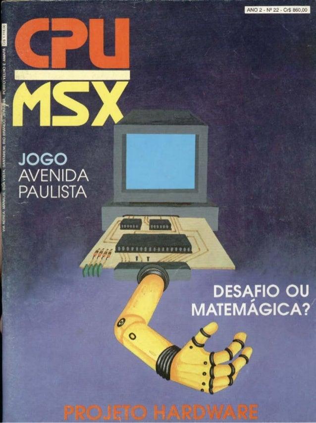 Revista CPU MSX - No. 22 - 1988