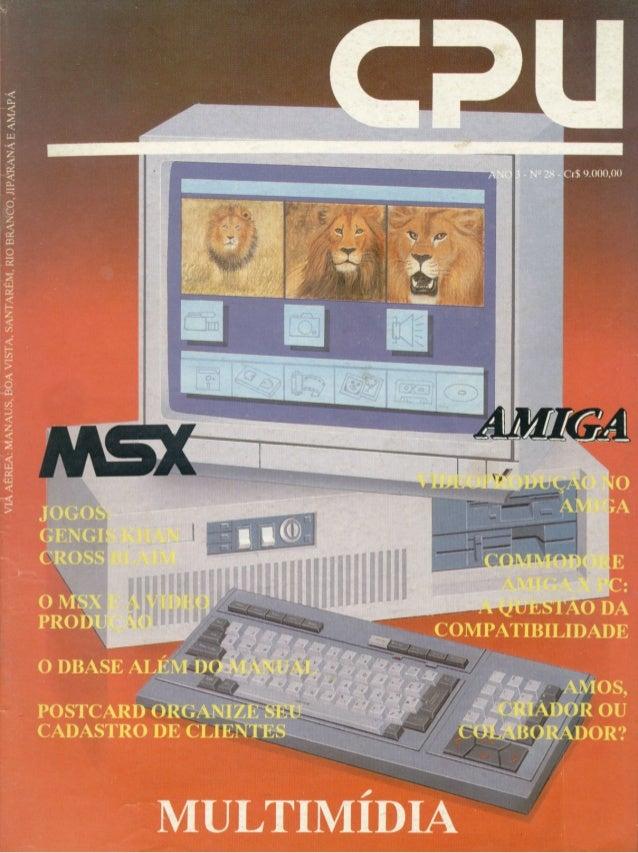 Revista CPU MSX AMIGA - No. 28 - 1988