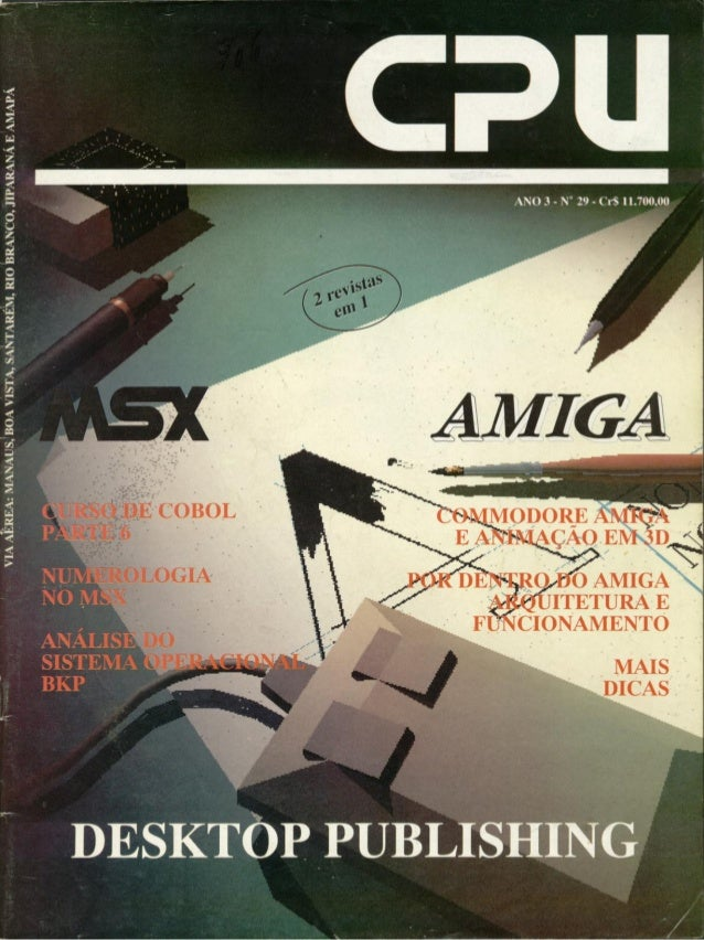 Revista CPU MSX AMIGA - No. 29 - 1988