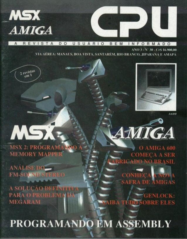 Revista CPU MSX AMIGA - No. 30 - 1988