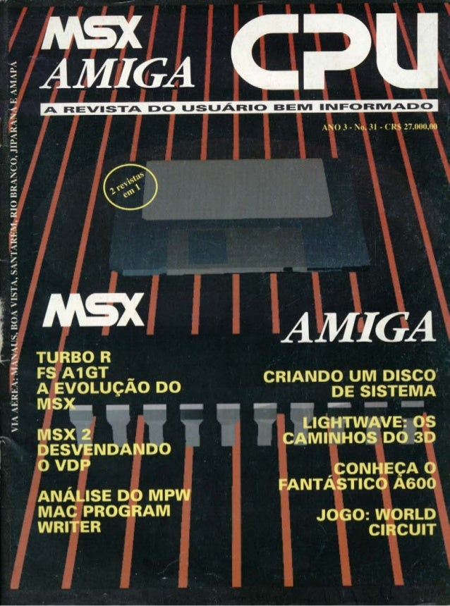 Revista CPU MSX AMIGA - No. 31 - 1988