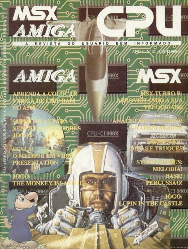Revista CPU MSX AMIGA - No. 32 - 1988