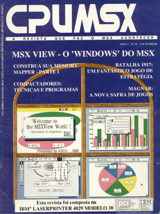 Revista CPU MSX AMIGA - No. 34 - 1988