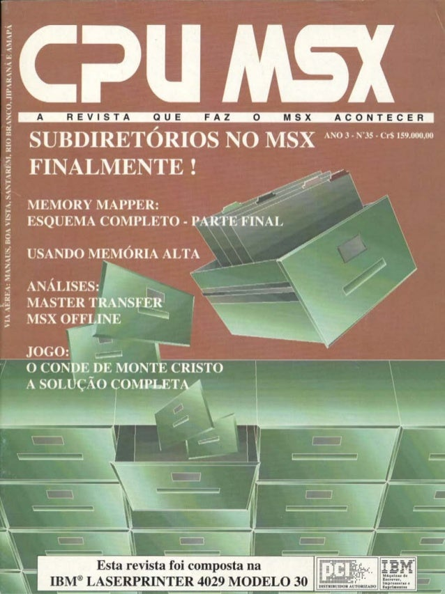Revista CPU MSX AMIGA - No. 35 - 1988