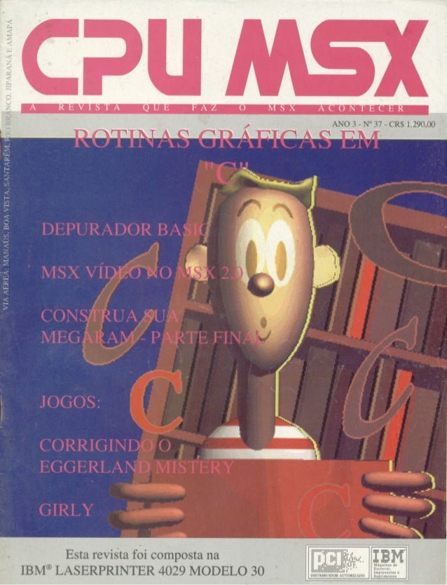 Revista CPU MSX AMIGA - No. 37 - 1988