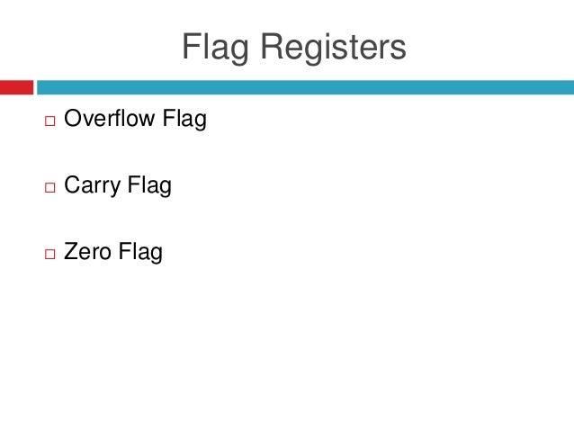Flag Registers  Overflow Flag  Carry Flag  Zero Flag