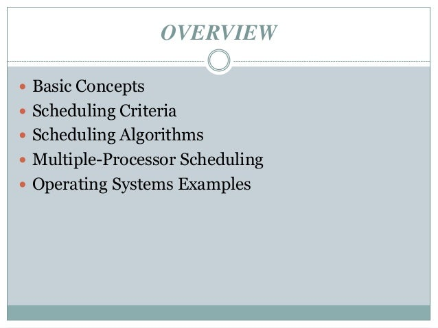 cpu scheduling Lecture 9 chapter 5: cpu scheduling (cont) algorithm evaluation simulation scheduling algorithm goals end of chapter 5 cs 446 principles of.