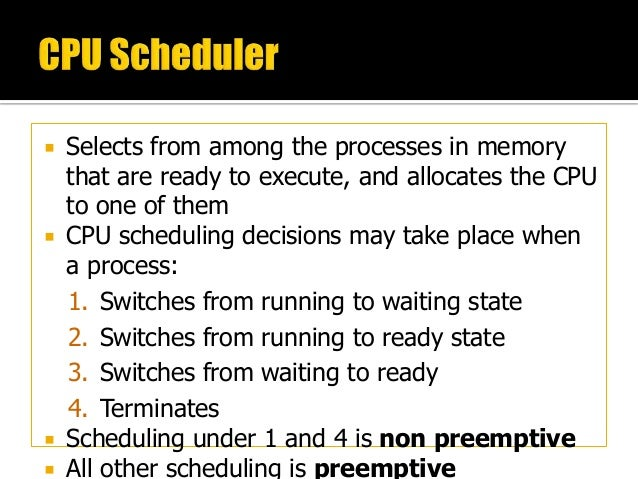 """cpu scheduling Cpu scheduling 101 the cpu scheduler makes a sequence of """"moves"""" that determines the interleaving of threads • programs use synchronization to prevent """"bad moves"""" •but otherwise scheduling choices appear (to."""