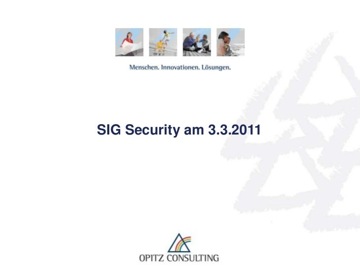 SIG Security am 3.3.2011<br />