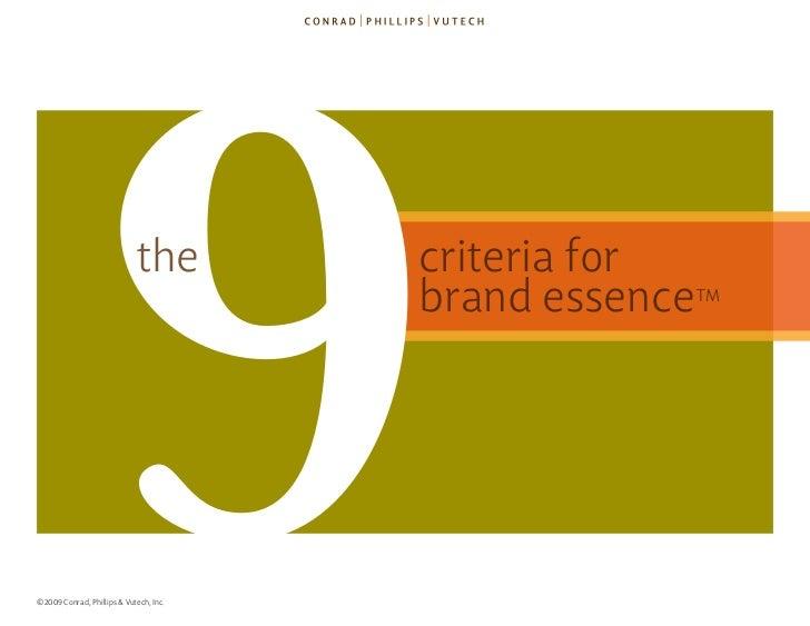 9               the     ©2009 Conrad, Phillips & Vutech, Inc.                                         criteria for        ...