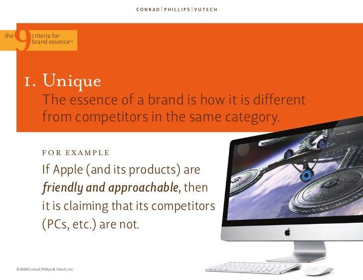 The 9 Criteria for Brand Essence (TM) Slide 36