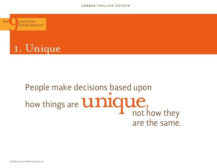 The 9 Criteria for Brand Essence (TM) Slide 37