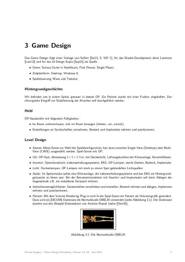 Virtual Surgery - Game Design Document