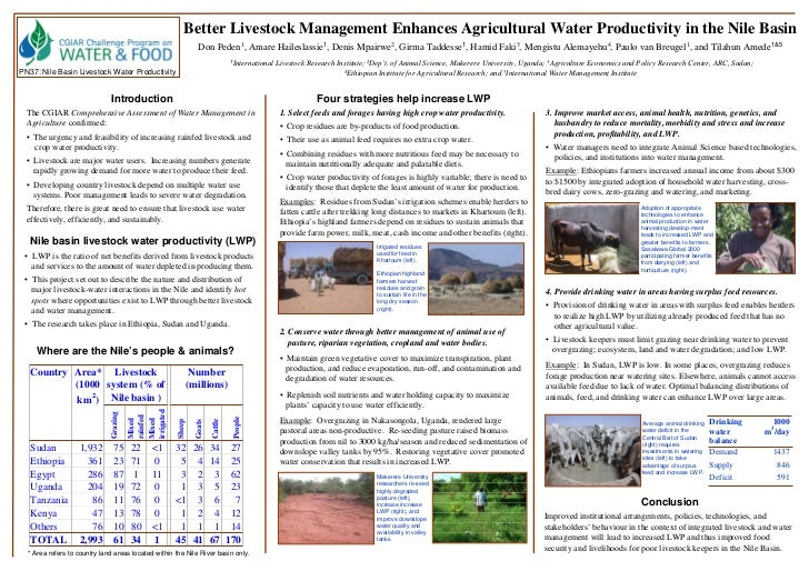 Better Livestock Management Enhances Agricultural Water Productivity in the Nile Basin                                    ...