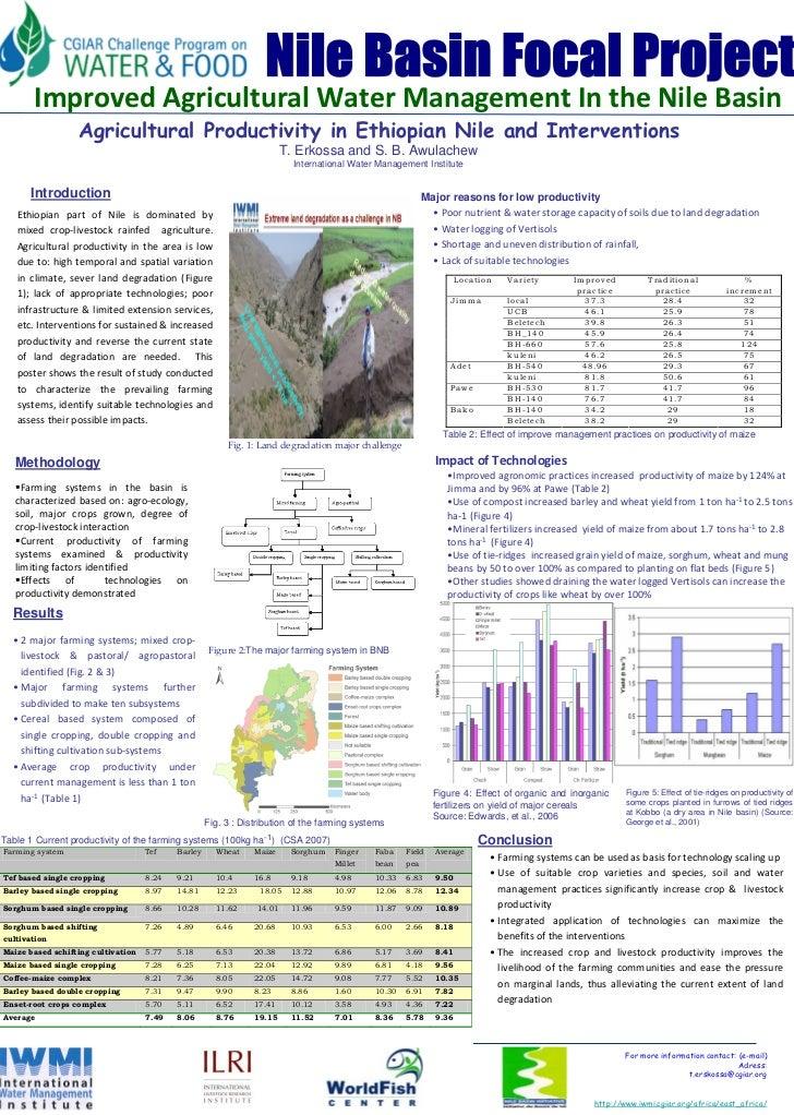 FU Berlin            ImprovedAgriculturalWaterManagementIntheNileBasin                   Agricultural Productivity ...