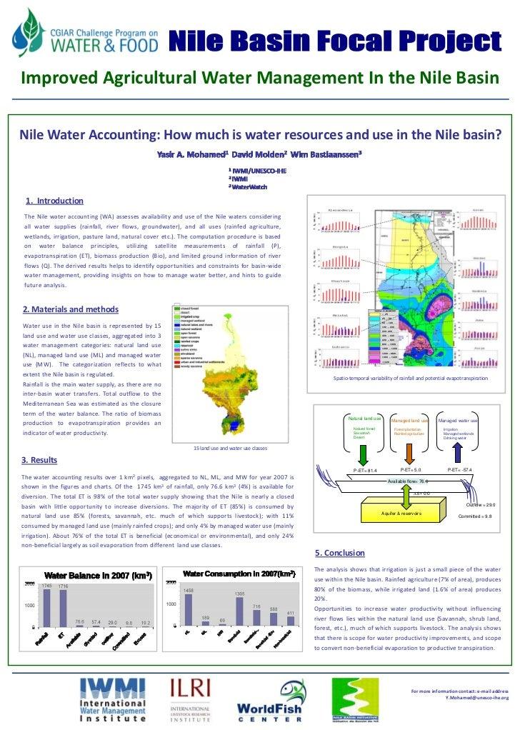 FU Berlin     ImprovedAgriculturalWaterManagementIntheNileBasin  NileWaterAccounting:Howmuchiswaterresources...