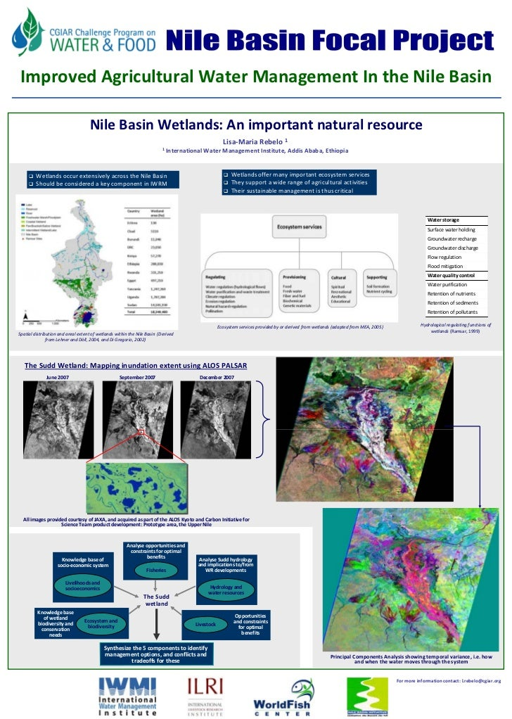 FU Berlin     Improved Agricultural Water Management In the Nile Basin                                       Nile Basin We...