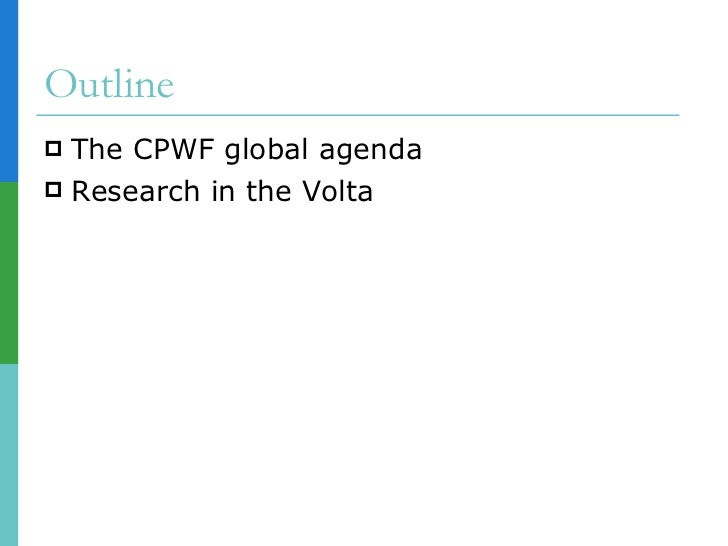 Cpwf volta basin devt challenge launch Slide 2