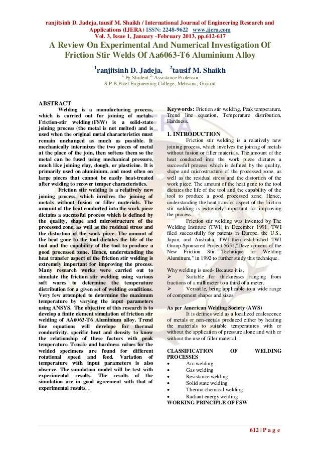 ranjitsinh D. Jadeja, tausif M. Shaikh / International Journal of Engineering Research and                    Applications...