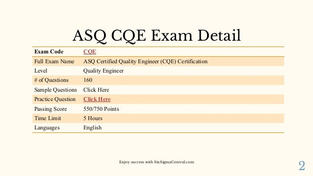 Preparation Guide for ASQ CQE Certification
