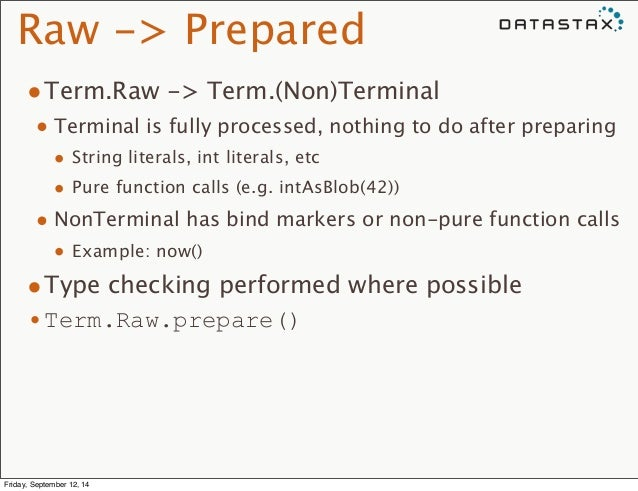 Raw -> Prepared  •Term.Raw -> Term.(Non)Terminal  • Terminal is fully processed, nothing to do after preparing  • String l...