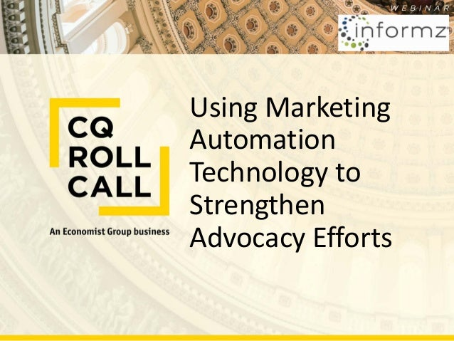Using Marketing Automation Technology to Strengthen Advocacy Efforts