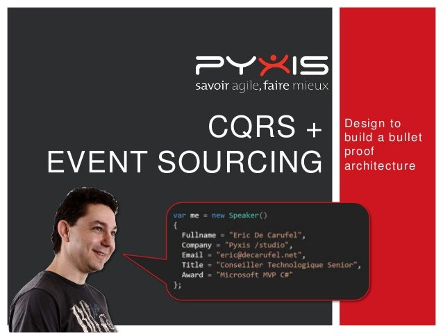 CQRS + EVENT SOURCING  Design to build a bullet proof architecture