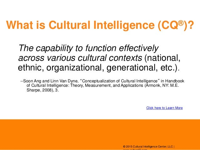 Cultural intelligence - Wikipedia