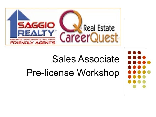 Sales Associate Pre-license Workshop