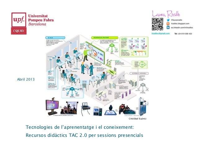Abril 2013                                                Cristóbal Suárez    Tecnologies de l'aprenentatge i el coneixeme...